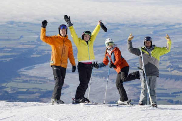 Adults on Snow Safari with Haka Tours